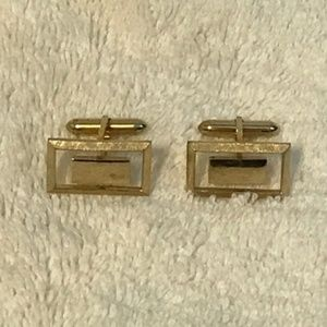 Other - vintage gold plated cuff links